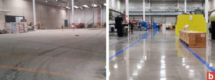 Cómo recuperar pavimentos de hormigón mediante pulido en seco. En Bobeton, como expertos en la instalación y creación de pavimentos industriales, llámenos.