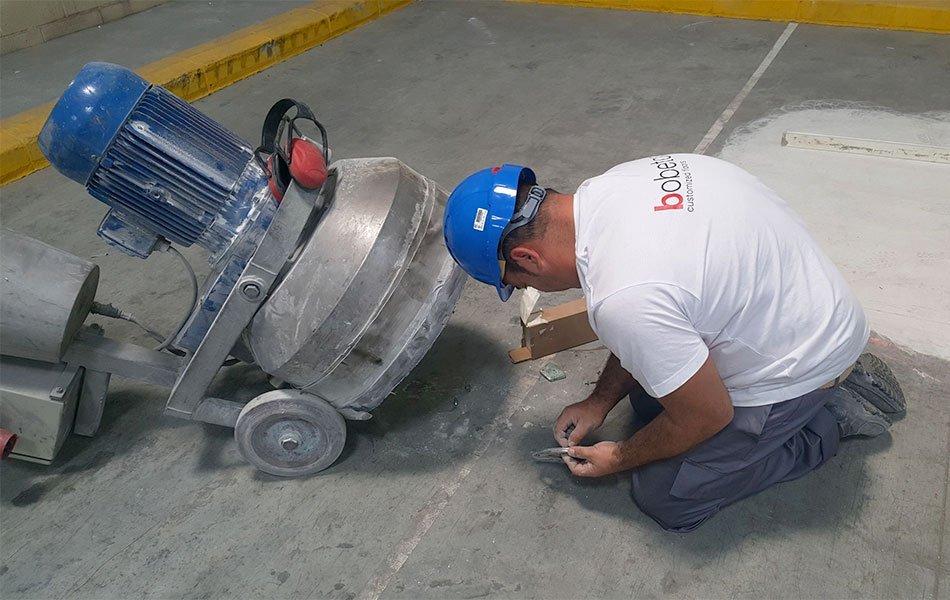 Recuperar pavimentos de hormigón mediante pulido en seco
